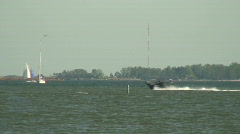 Sea motorboat 17 Stock Footage