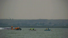 Formula one racing boat - stock footage