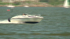 Sea motorboat 15 Stock Footage