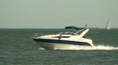 Sea motorboat 14 Stock Footage