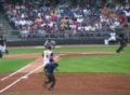 Baseball Out At First Base Footage