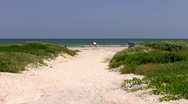 Texas Flag on beach zoom in HD Stock Footage
