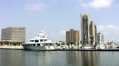 Yacht luxury and city of Corpus Christi TX Stock Footage