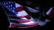 American Flag at Night Stock Footage