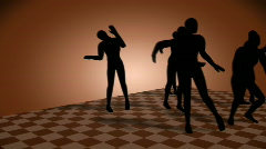 Dance of Silhouettes Stock Footage