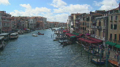 Venice view from rialto bridge part I Stock Footage
