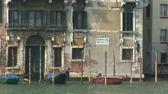 venice gondola passing - stock footage