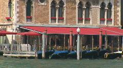 Venice parking gondolas Stock Footage