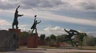 Budapest Statue Park Stock Footage
