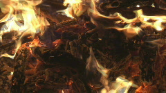 Small fire from top Stock Footage