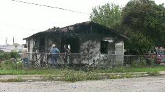 House fire inspectors HD Stock Footage