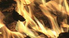 Fire closeup Stock Footage
