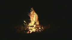 Stock Video Footage of campfire