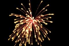 V57-6 Alpha Channel Fireworks - stock footage