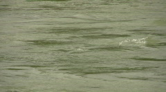 Texas flood road underwater Zoom Out HD Stock Footage