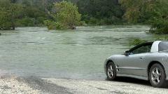Texas road flood Trans Am close HD Stock Footage
