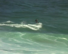 Kite Surfing in Portugal Stock Footage