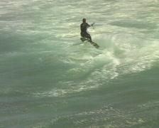 Kitesurfing in Portugal Stock Footage
