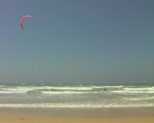 kite surfing  at carrapateira portugal - stock footage