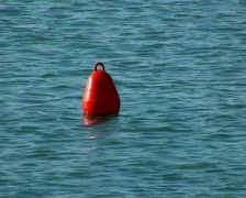 Red Buoy Warning Stock Footage