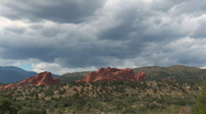 Garden of the Gods - pan left Stock Footage