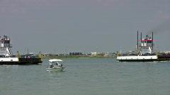 Port Aransas Ferry Texas HD Stock Footage