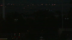 Hot air balloon burner at night - close Stock Footage