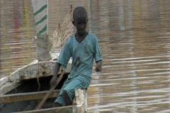 Boy fishing in senegal Stock Footage