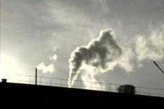 Factory smoking Stock Footage