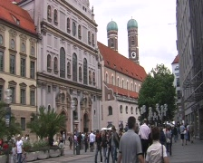 Munich Pedestrian Zone - stock footage