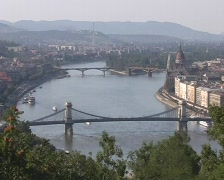 Budapest Evening View Stock Footage