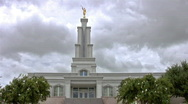 Stock Video Footage of San Antonio TX LDS Temple front  trees HD