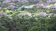 Luxury homes in a valley HD Stock Footage