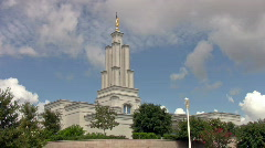 San Antonio TX LDS Temple fast lapse HD Stock Footage