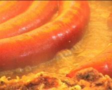 Sausages pan-frying III Stock Footage