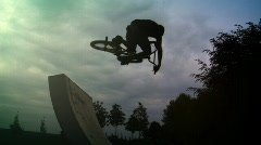 BMX jump Stock Footage