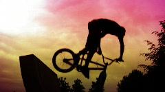 BMX X-up - stock footage