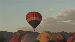 Hot air balloon ascends Stock Footage