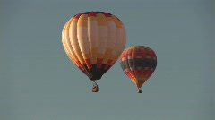 Two hot air balloon Stock Footage