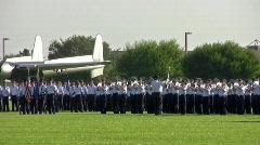 USAF Basic Trng band play march forward HD Stock Footage