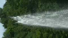 Fountain water stream - stock footage