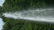 Fountain water stream Stock Footage