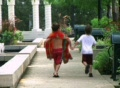 Boys Skipping in Park Footage