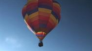 Hot air balloon - flies away Stock Footage