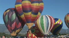 Hot air balloon - lift off wide Stock Footage