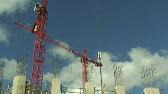 Construction cranes HD 1080i Stock Footage