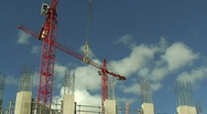 Stock Video Footage of Construction cranes HD 1080i