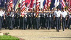 USAF Flight flags Pass in Review HD - stock footage