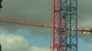 Stock Video Footage of Large construction cranes