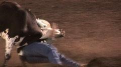 Steer Wrestling - stock footage